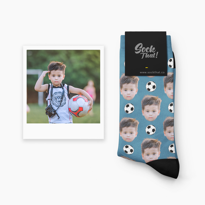 Custom Football Face Socks