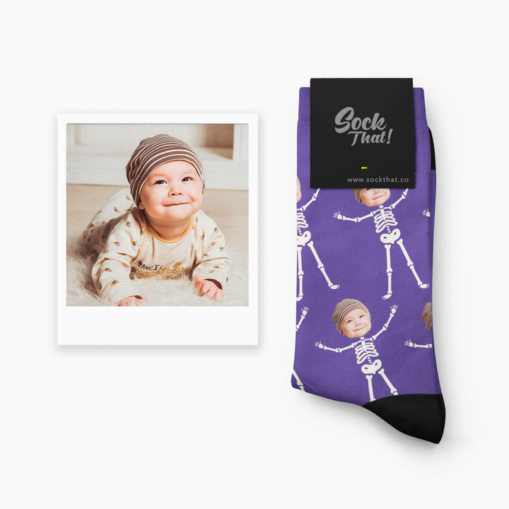 Halloween Skeleton Face Socks