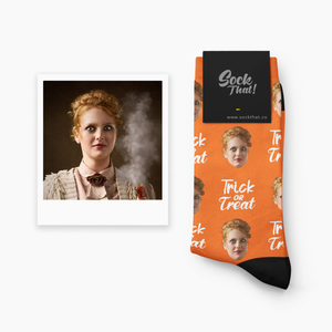 Halloween Trick or Treat Face Socks