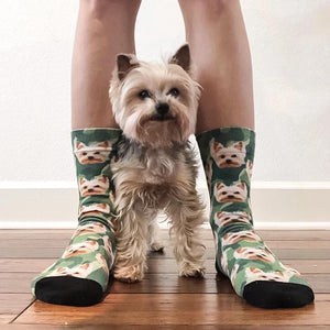 Camo Custom Animal Face Socks 🌳