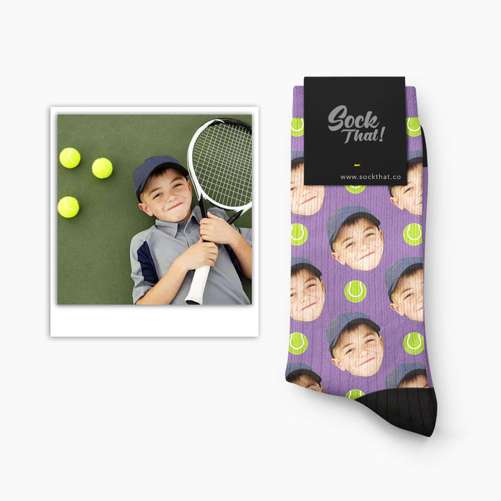 Custom Tennis Face Socks