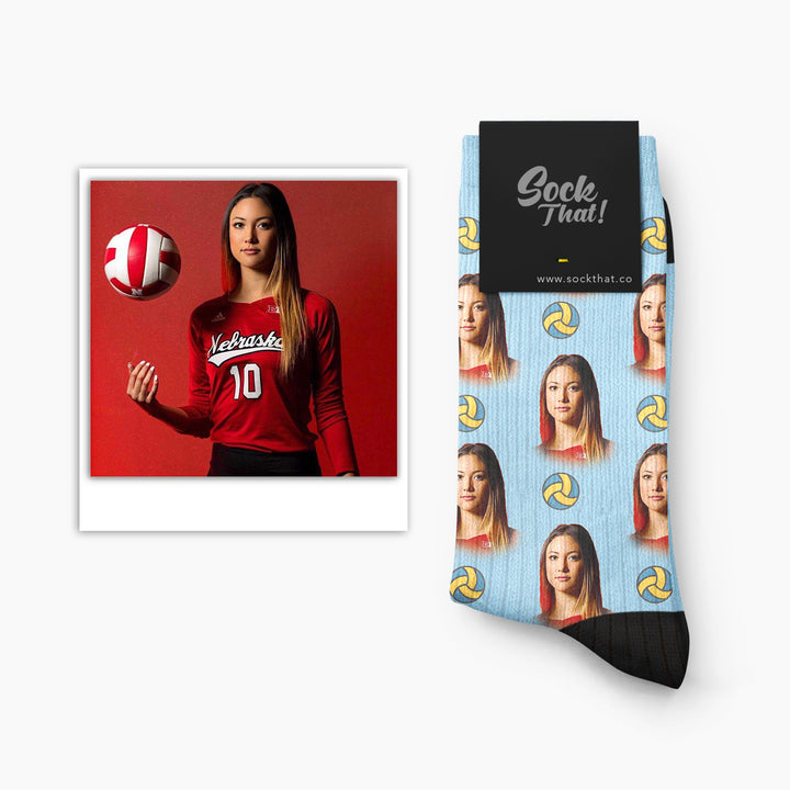 Custom Volleyball Face Socks