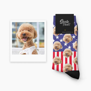 American Dreams Custom Animal Face Socks 🏴󠁧󠁢󠁥󠁮󠁧󠁿 - Sock That!