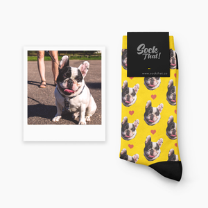 Custom Pets & Hearts Face Socks ❤️ - Sock That!