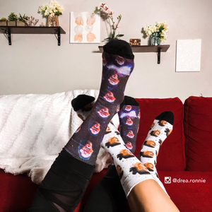 Custom Faces in Galaxy Socks 🌔 - Sock That!