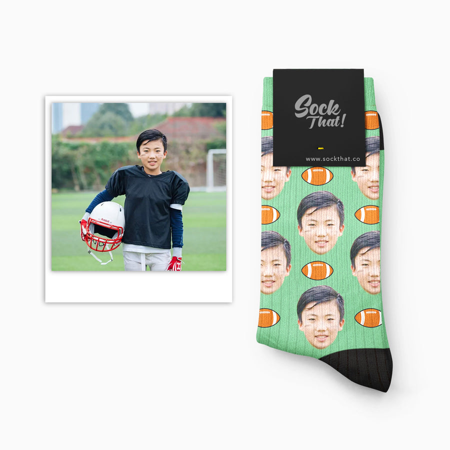 Custom Rugby Face Socks