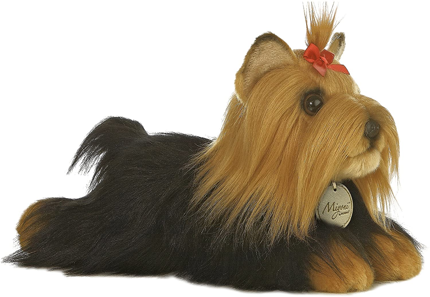 Aurora 11-inch Yorkshire Terrier Stuffed Dog with Brush - TOYBOX Toy Shop