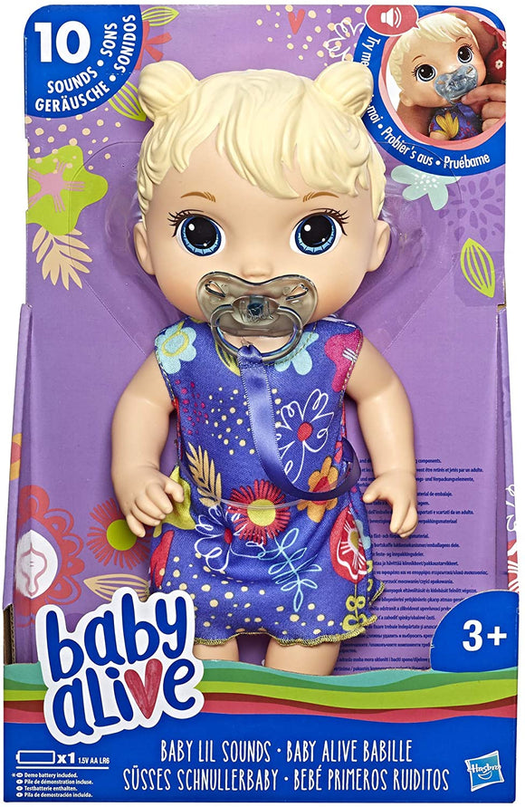 Baby Alive E3690 Baby Lil Sounds: Interactive Baby Doll - TOYBOX Toy Shop