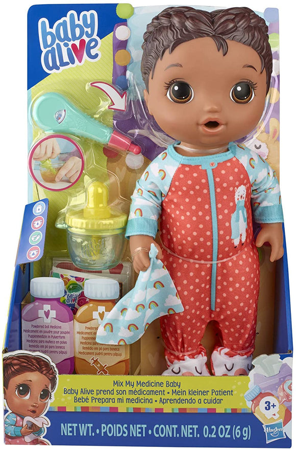 Baby Alive E6941 Mix My Medicine Baby Doll, Llama Pyjamas - TOYBOX Toy Shop