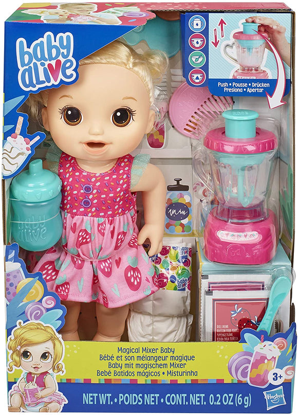 Baby Alive E6943 Magical Mixer Baby Doll Strawberry - TOYBOX Toy Shop