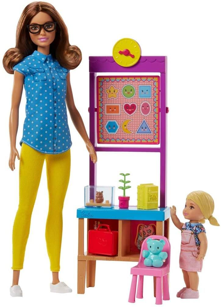 Barbie Teacher Doll with Flipping Blackboard Playset FJB30 - TOYBOX Toy Shop