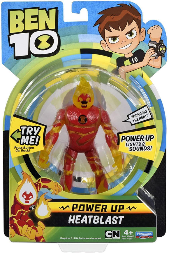 Ben 10 BEN01000 Power Up Heatblast Deluxe Action Figure - TOYBOX Toy Shop