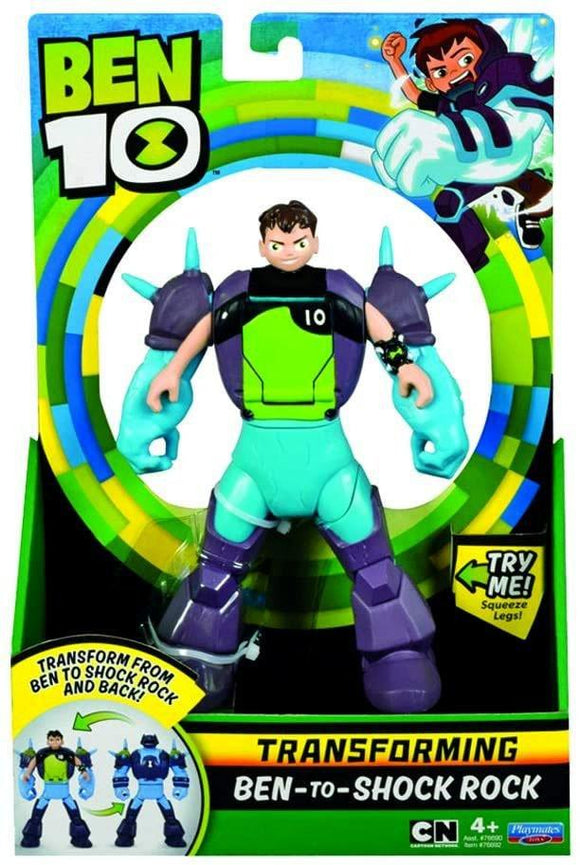 Ben 10 BEN29200 Ben-To-Shockrock Transforming Action Figure - TOYBOX Toy Shop