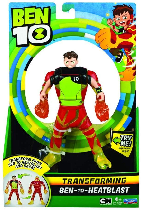 Ben 10 BEN2930 Transforming Ben-to-Heatblast Figure - TOYBOX Toy Shop