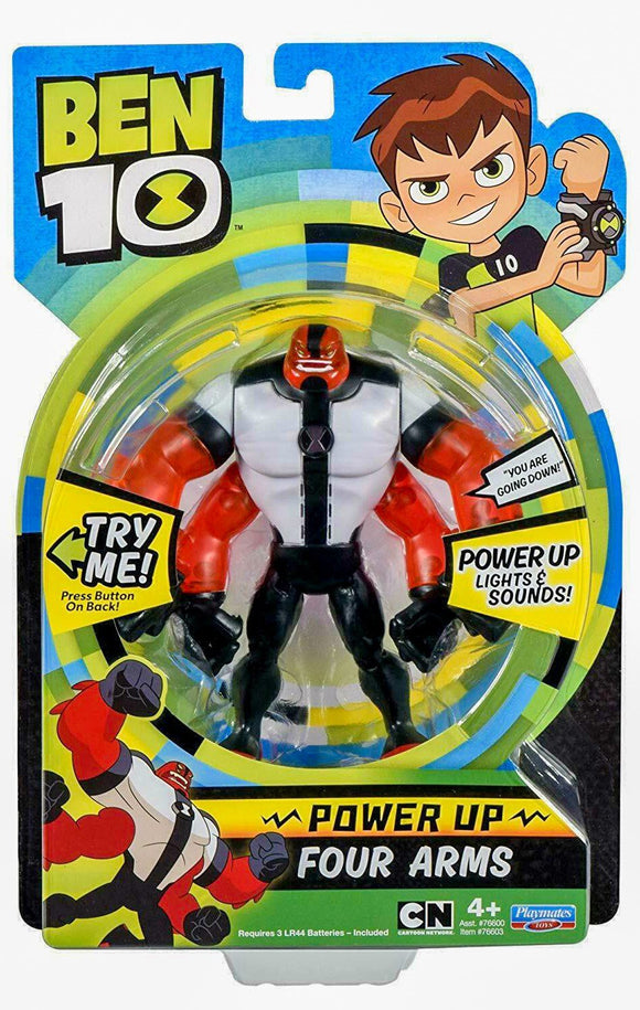 Ben 10 Deluxe Power Up Four Arms Action Figure Light & Sounds Action Toy Ben 10