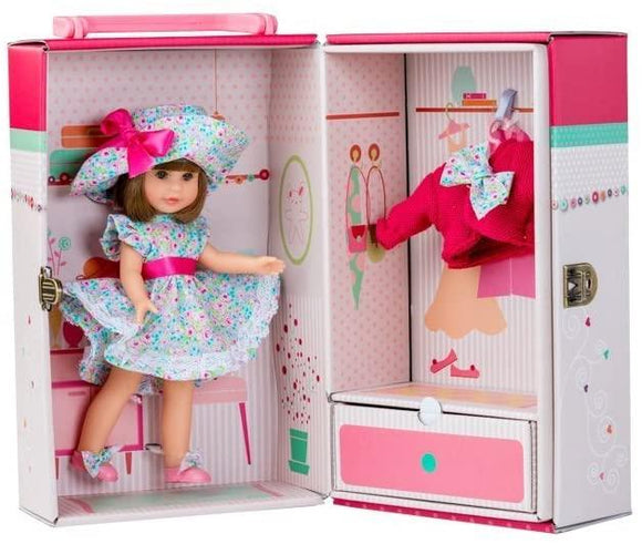 Berjuan Doll 1012 Irene Morena Cabinet and Dress 22 cm, Pink - TOYBOX Toy Shop