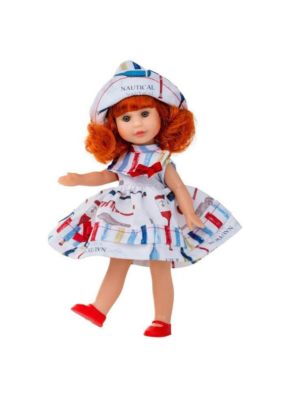 Berjuan Doll 1014 Irene Redhead Wardrobe & Dress 22 cm Pink - TOYBOX Toy Shop