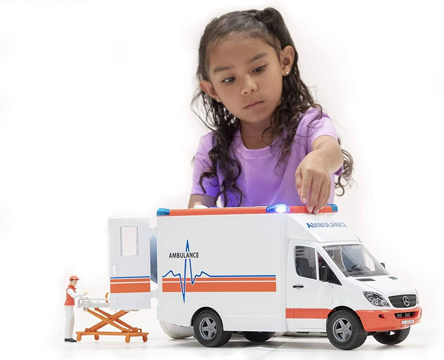 Bruder 02536 MB Sprinter Ambulance with Driver - TOYBOX Toy Shop