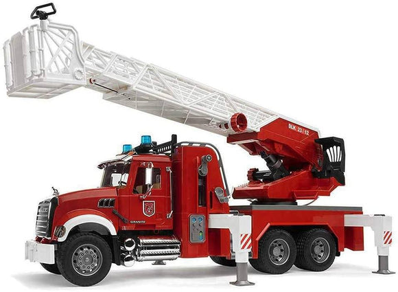 Bruder 02821  Mack Granite Fire Engine with Slewing Ladder and Water Pump - TOYBOX Toy Shop