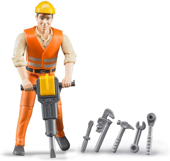 Bruder 60020 BWORLD Construction Worker with Accessories - TOYBOX Toy Shop