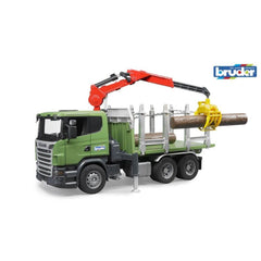 Bruder Scania R Series Timber Truck And Crane - TOYBOX Toy Shop