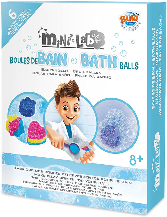 BUKI 3010 - Mini Lab Bath Balls Playset Baby Toys Buki