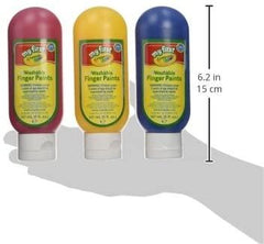 Crayola  Kids Washable Finger Paint, Pack of 3 - TOYBOX Cyprus