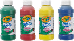 Crayola Washable Ready Mix Kids Paint, Pack of 4 - TOYBOX Toy Shop