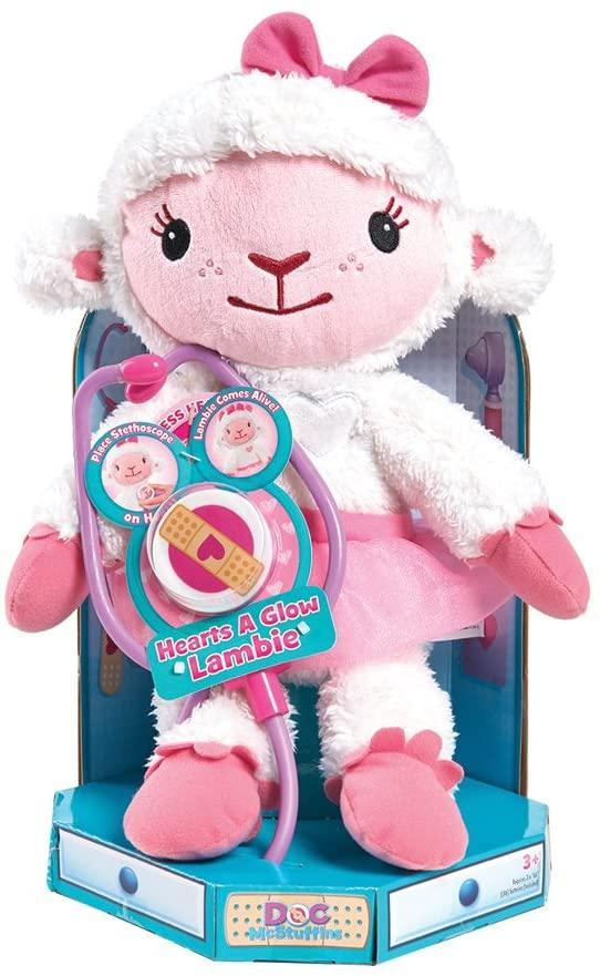 Disney Doc Mcstuffins Hearts-A-Glow Lambie Soft Toy - TOYBOX Toy Shop