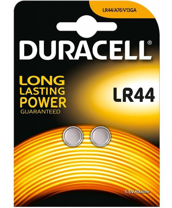 Duracell LR44 Alkaline Button Cell Battery 1.5v Twin pack Batteries Duracell
