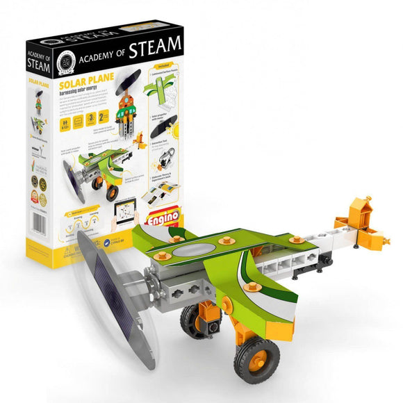 ENGINO Academy Of Steam Series Solar Plane - TOYBOX Cyprus