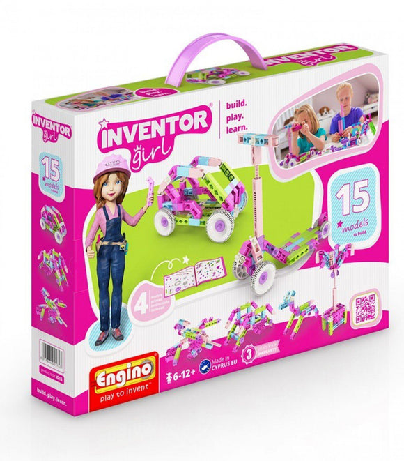 ENGINO Inventor Girl 15 Models Educational Construction Playset - TOYBOX Cyprus