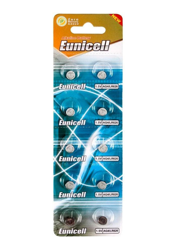 Eunicell LR626 Alkaline Battery - Strip of 2 Batteries - TOYBOX Cyprus