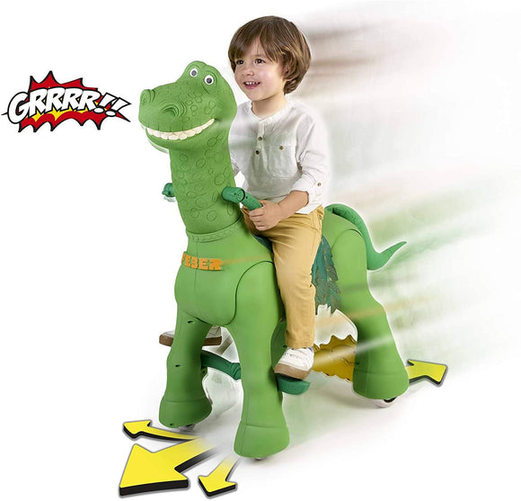 FEBER My Friendly Dino Dinosaur 12V Battery Powered Rideon with Sounds - TOYBOX Toy Shop