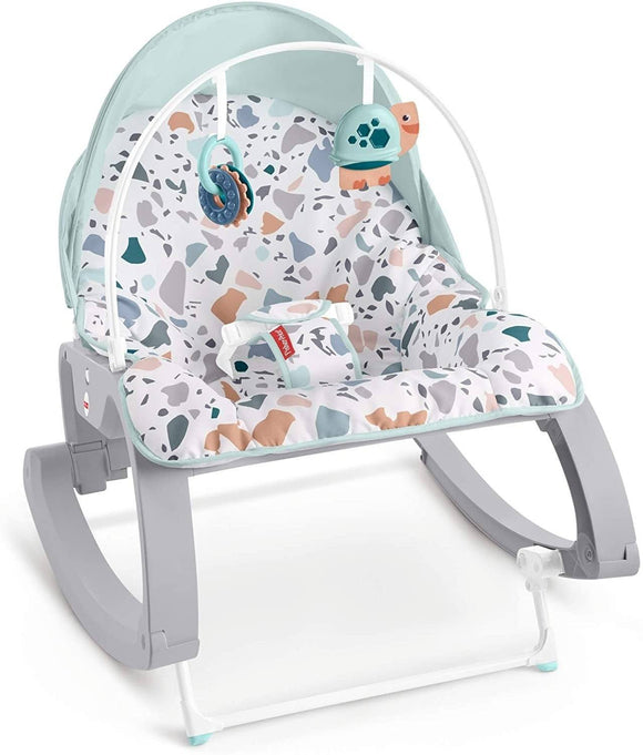 Fisher-Price GMD21 Deluxe Infant-to-Toddler Rocker, Multi-Coloured - TOYBOX Cyprus