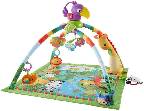 Fisher-Price Rainforest Gym, Baby Playmat with Music and Lights - TOYBOX Cyprus