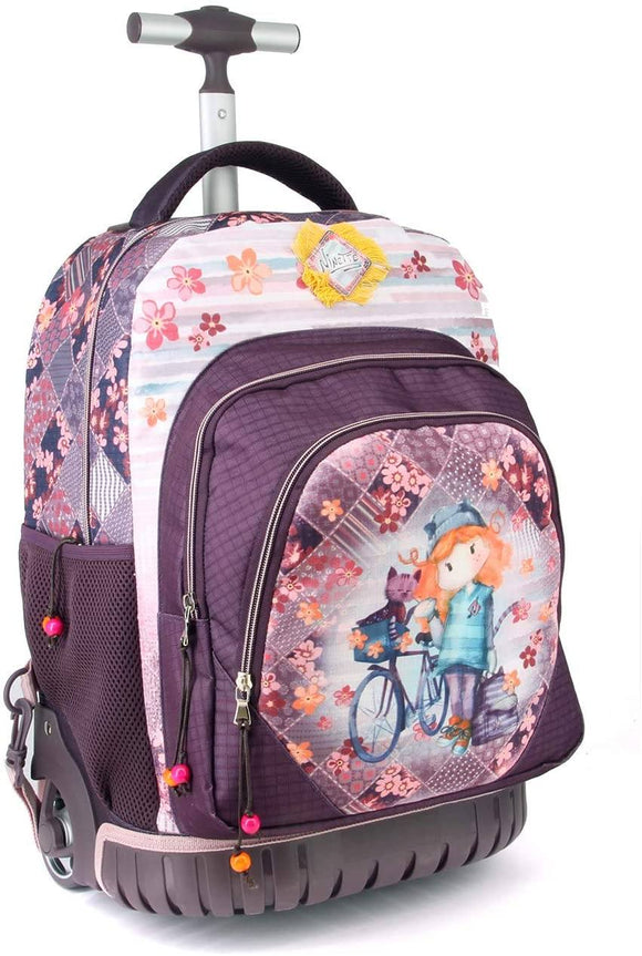 Forever Ninette Bicycle-GTS School Trolley Backpack, 47 cm - TOYBOX Toy Shop