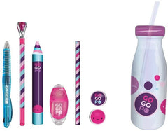 GOGOPO Back To School Milk Bottle Stationery Bundle - Pink - TOYBOX Toy Shop