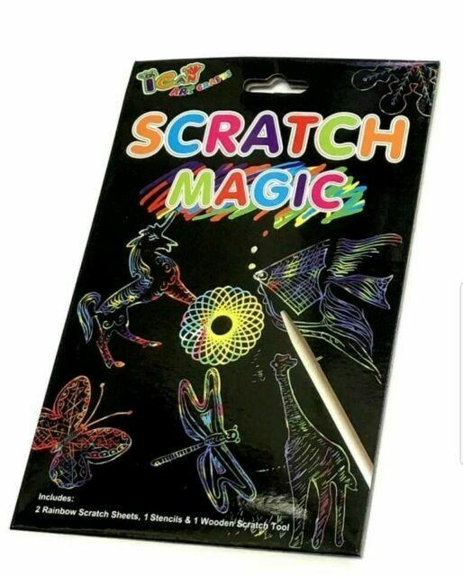 Henbrandt S51 473 Magic Colour Scratch Set - 8 Pieces - TOYBOX Toy Shop