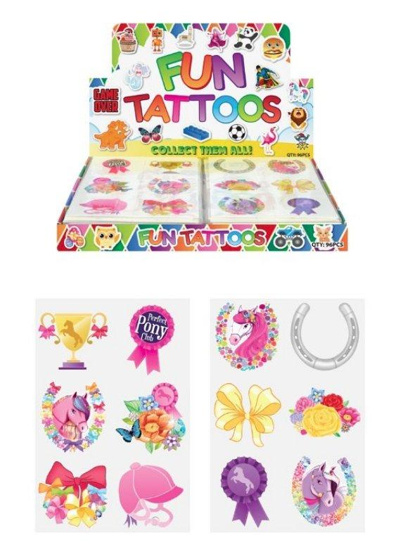 Hendrandt N51 322 Mini Pony Temporary Tattoo Sheets - TOYBOX Toy Shop