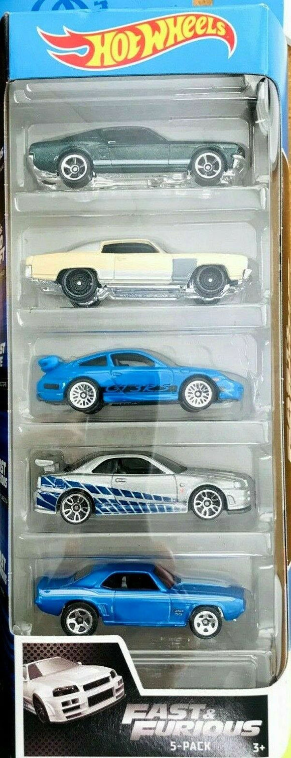 Hot Wheels Fast & Furious Set of 5 Diecast Cars - TOYBOX Cyprus