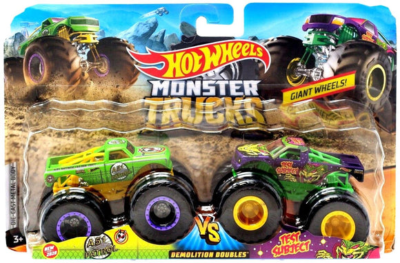 Hot Wheels Monster Trucks Demolition Doubles - A51 Patrol vs Test Subject - TOYBOX Cyprus