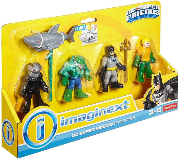 Imaginext DC Super Friends Heroes and Villains Batman and Aquaman Action Toy Fisher Price