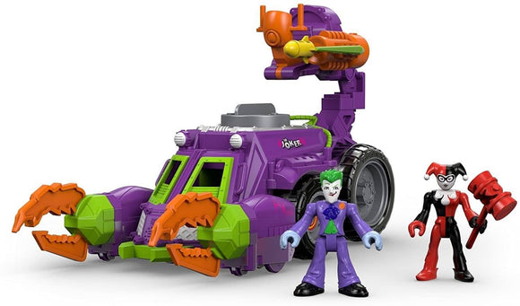 Imaginext DWV56 Joker and Harley Quinn Battle Vehicle Cars Fisher Price