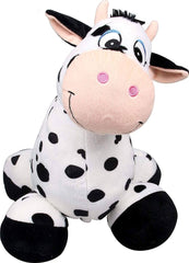 "Inflate-A-Mals Inflatable 20"" Ride-On Cow Black/White Soft Toys Inflate-A-Mals"
