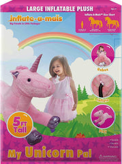 Inflate-A-Mals Inflatable Plush 5ft Unicorn - TOYBOX Toy Shop