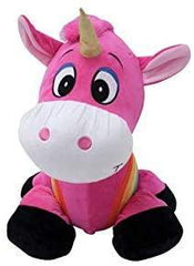 Inflate-A-Mals Soft and Cuddly Inflatable Ride On Unicorn, 20-Inch, Pink with Rainbow - TOYBOX Cyprus