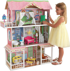 KidKraft 65851 Sweet Savannah Wooden Dolls House with Furniture - TOYBOX Cyprus