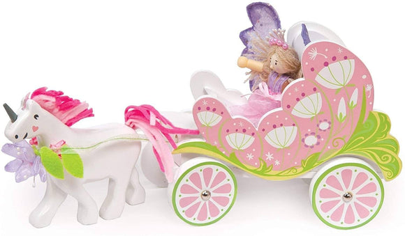 Le Toy Van - Fairy Unicorn Carriage Dolls House Accessories Le Toy Van