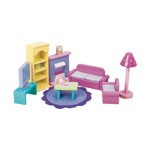 Le Toy Van SugarPlum Sitting Room Furniture Playset Dollhouse Le Toy Van
